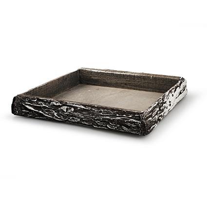 Onderbord 'bark' grijs/sneeuw 30x30x4cm