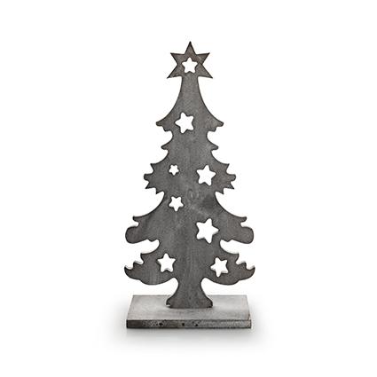 Houten kerstboom greywash h29 d14 cm