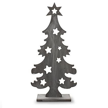 Houten kerstboom greywash h42 d20 cm