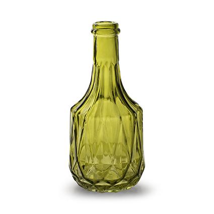 Flesvaas 'rochelle' M groen h18 d8,5 cm