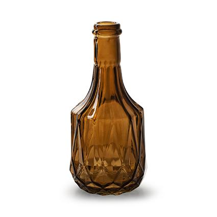 Flesvaas 'rochelle' M bruin h18 d8,5 cm