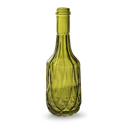 Flesvaas 'rochelle' L groen h23 d8 cm