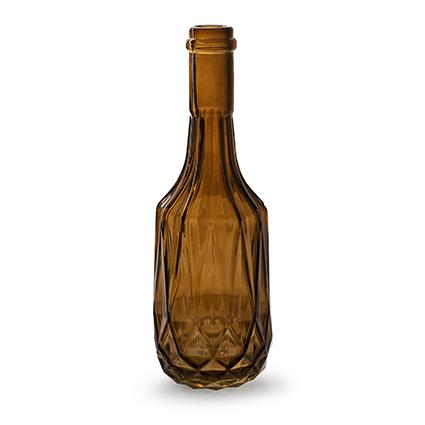 Flesvaas 'rochelle' L bruin h23 d8 cm