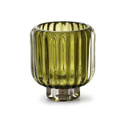 Kaarshouder 'pop' groen h10 d9 cm