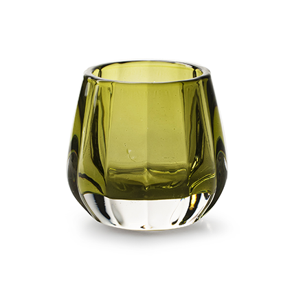 Kaarshouder 'sem' groen h7,5 d8,5 cm