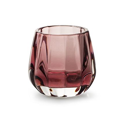 Candleholder 'Sem' pink h7,5 d8,5 cm