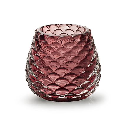 Kaarshouder 'cas' roze h7 d8 cm