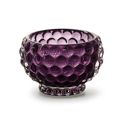 Candleholder 'aloha' purple h8 d9 cm