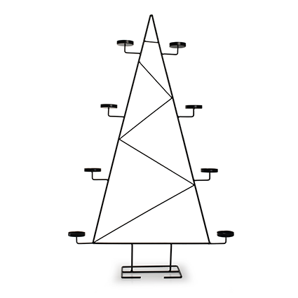 Metal christmas tree with holder black