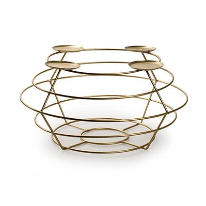 Metalen frame 'Avvento' goud h14 d30 cm