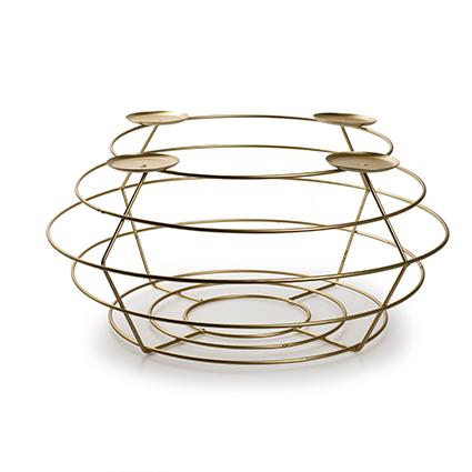 Metalen frame 'Avvento' goud h16 d35 cm