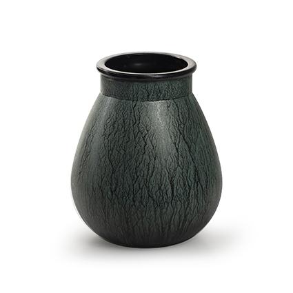 Vase 'aliya' green h17 d14 cm