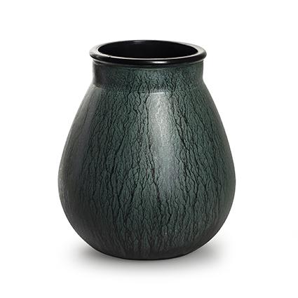 Vaas 'aliya' groen h22 d19,5 cm