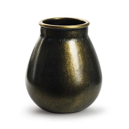 Vaas 'aliya' goud h22 d19,5 cm