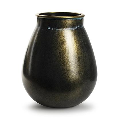 Vaas 'aliya' goud h28 d24 cm