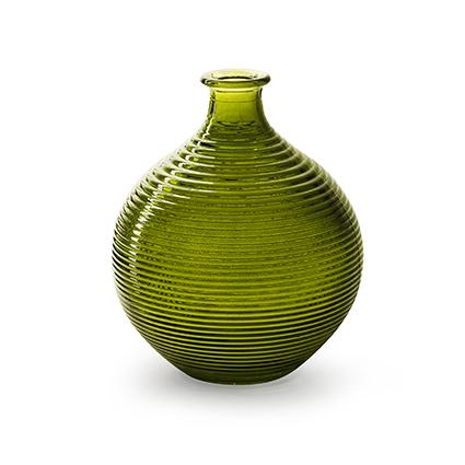 Flesvaas 'ellen' groen h20 d16,5 cm