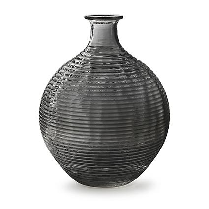 Bottle vase 'ellen' smoke h29.5 d23 cm