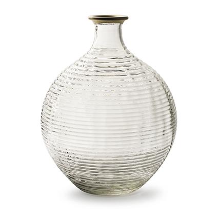 Bottle vase 'ellen' with golden rim h29.5