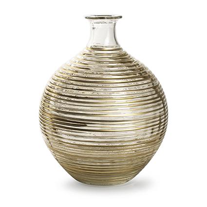 Flesvaas 'ellen' met gouden streep h29,5 d23 cm