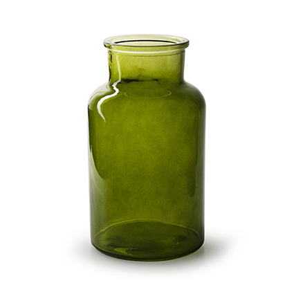 Flesvaas 'apotheker' groen h26 d14 cm
