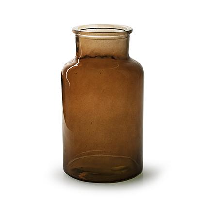Flesvaas 'apotheker' bruin h26 d14 cm