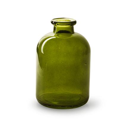 Flesvaas 'jardin' groen h17 d11 cm