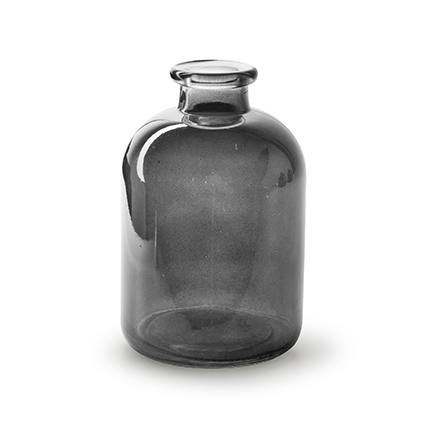 Bottle vase 'jardin' smoke h17 d11 cm