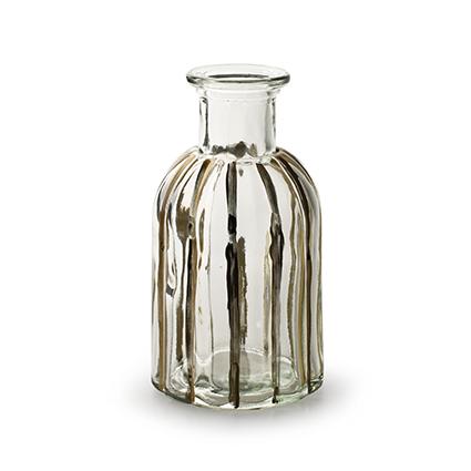 Fles 'norinne' met gouden streep h14 d7,5 cm
