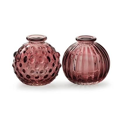 Bolvaasje 'jive' roze 2-ass. h8,5 d8,5 cm