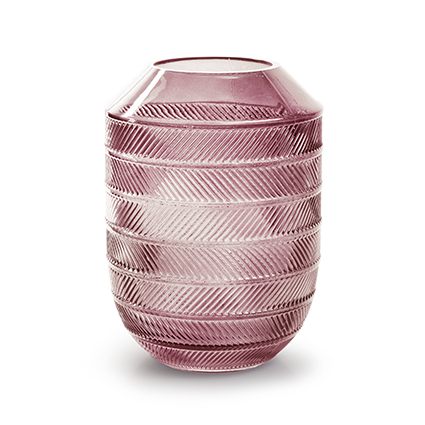 Vaas 'bick' M roze h20 d18 cm
