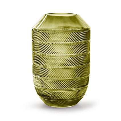 Vaas 'bick' L groen h28 d18 cm