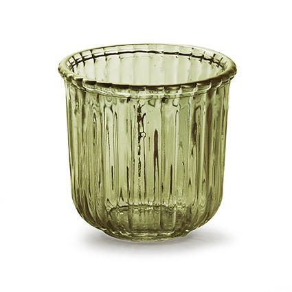 Glaspot 'day' S groen h10,5 d11 cm