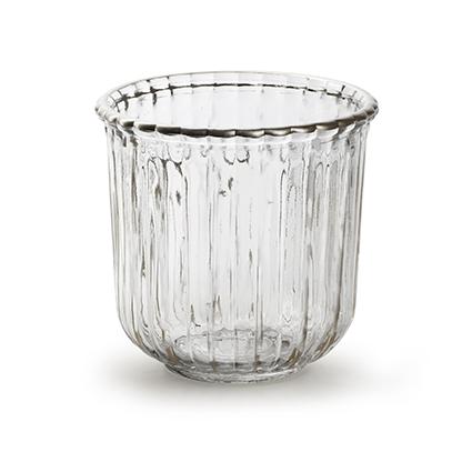 Glaspot 'day' M helder h11,5 d12 cm