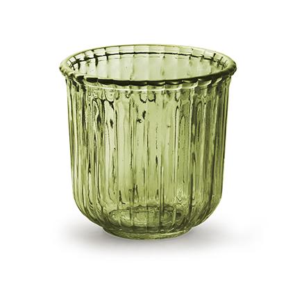 Glaspot 'day' M groen h11,5 d12 cm