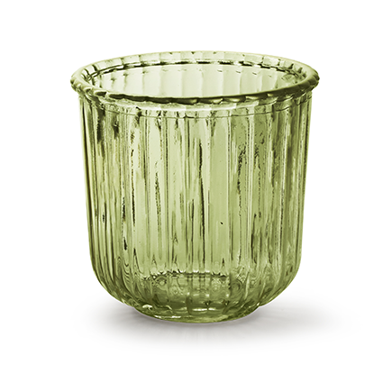 Glaspot 'day' L groen h13,5 d14 cm