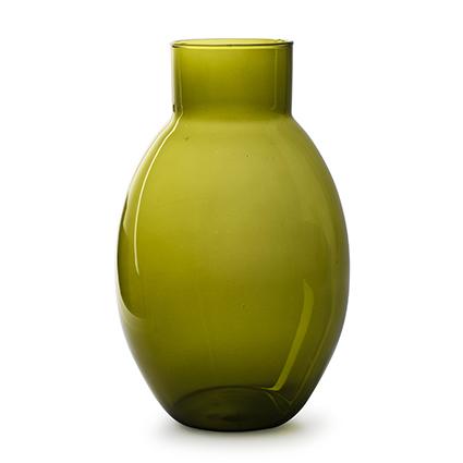 Eco vaas 'lola' groen h32 d20 cm