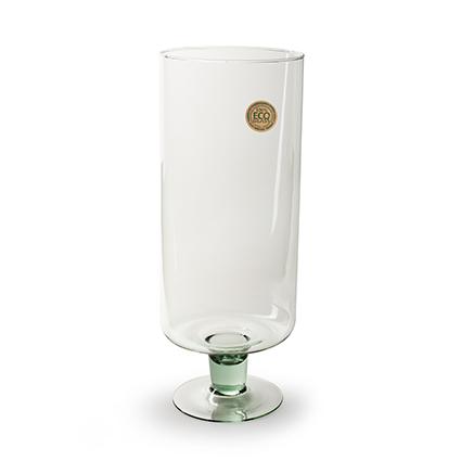 Cylinder 'levy' op voet helder h47 d18 cm