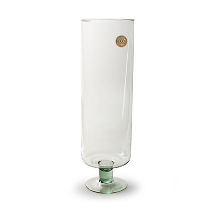 Cylinder 'levy' op voet helder h60 d18 cm