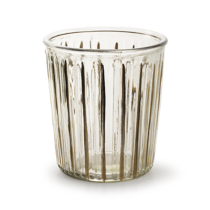 Vase 'bruce' with gold stripe h15 d13,5 cm