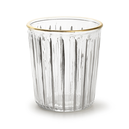 Vase 'bruce' with gold rim h15 d13,5 cm