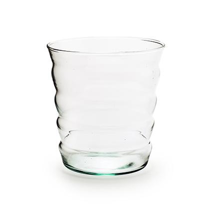 Eco vase 'stripe' h15 d14 cm