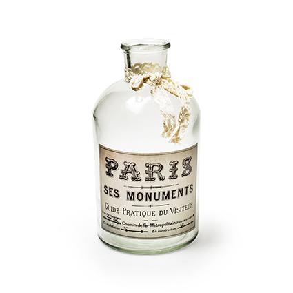 Bottle vase 'paris' h20 d11 cm