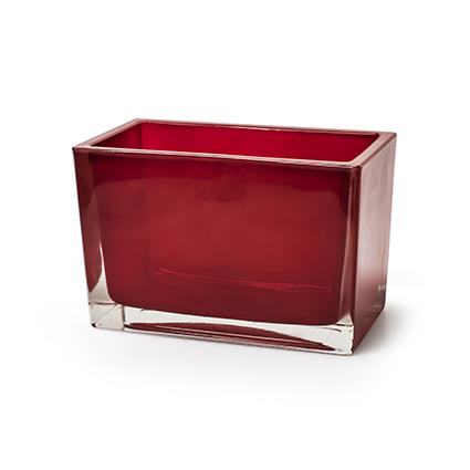 Cube red h10 d14,5x7,5cm
