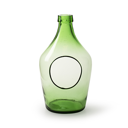 Eco bottlevase with hole green 3 liter h29