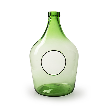 Eco bottlevase with hole green 5 liter h33