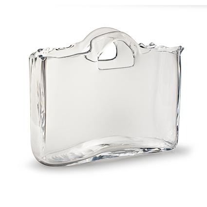 Glazen tas 'baggy' h26 d30x10 cm sc