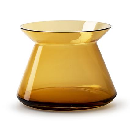 Vaas  met rand amber h17 d24 cm cc