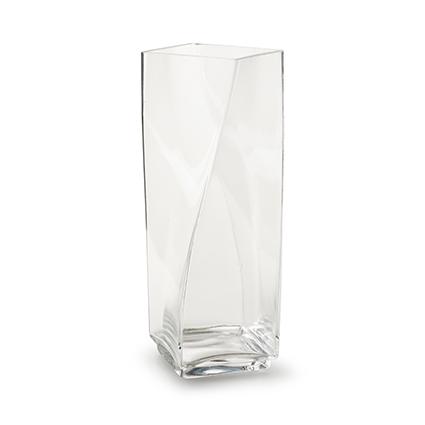 Vase square with twist h26 d8,5x8,5 cm
