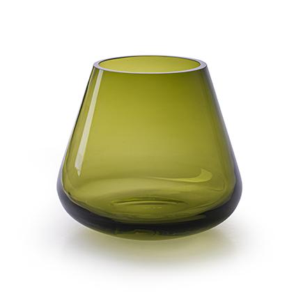 Vaas 'trembli' olijfgroen h12 d13,5 cm cc