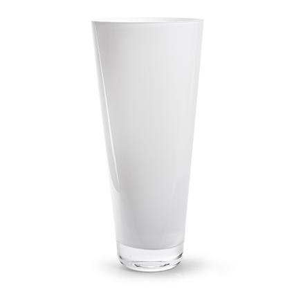Conische vaas wit h38 d17 cm